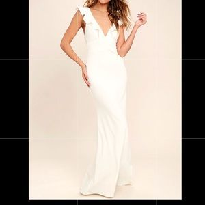 Lulus perfect opportunity white long prom dress